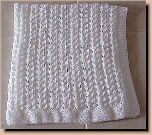 Free Knitting Patterns For Baby Blankets : KNITTED BABY BLANKETS PATTERNS   Free Patterns